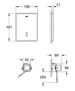 GROHE_38698SD0_Commende_Infrarouge_Tectron_SKATE_Schema_cote.jpg